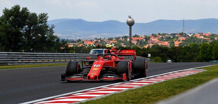 Charles Leclerc no pudo lograr más en la clasificación de Hungría