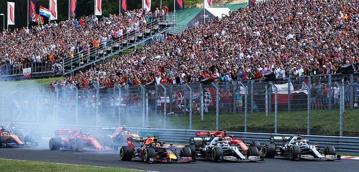 Salida de la carrera del GP de Hungría 2019