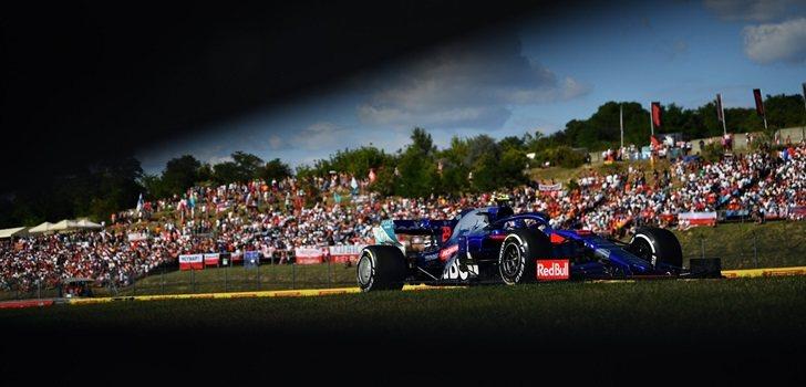 Albon, durante el GP de Hungría 2019