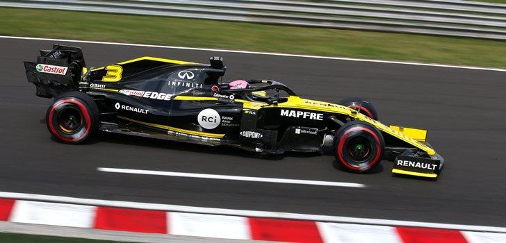 Daniel Ricciardo rueda en el trazado de Hungaroring