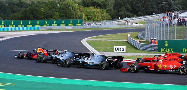 Salida del Gran Premio de Hungría 2019