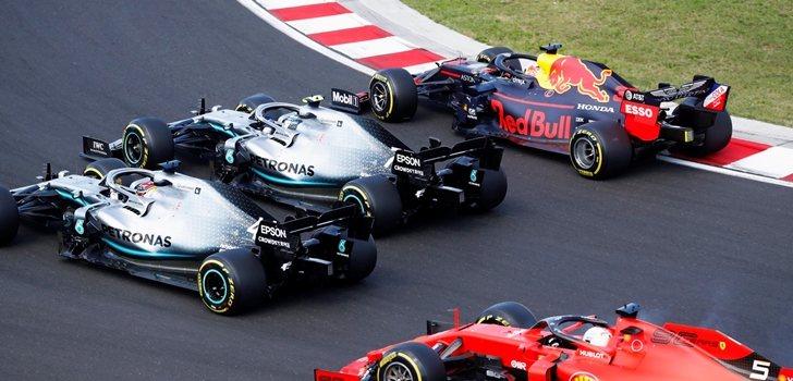 Bottas defiende posición en Hungaroring