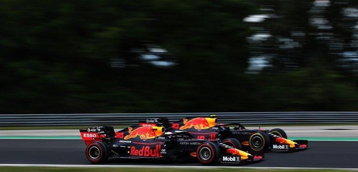 Verstappen y Gasly, juntos en Hungría