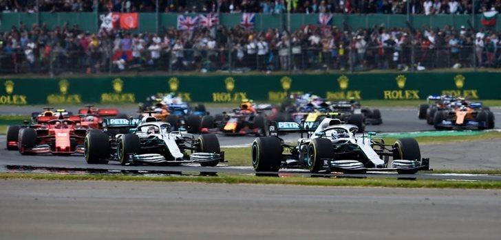 Los pilotos de F1, durante el pasado GP de Gran Bretaña