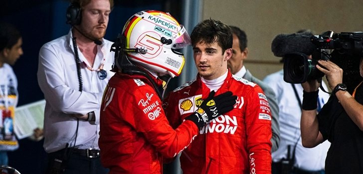 Vettel y Leclerc, juntos tras el GP de Hungría