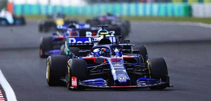 Alexander Albon, durante el Gran Premio de Hungría 2019