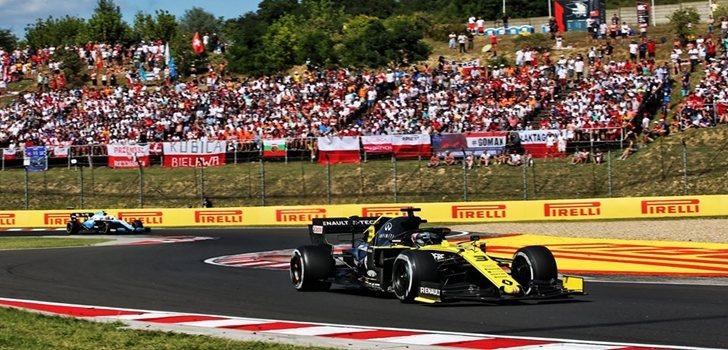 Daniel Ricciardo, en el GP de Hungría 2019