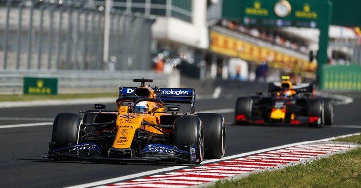Carlos Sainz Jr. durante el GP de Hungría)