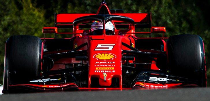 Sebastian Vettel demostró el potencial de su coche en Bélgica