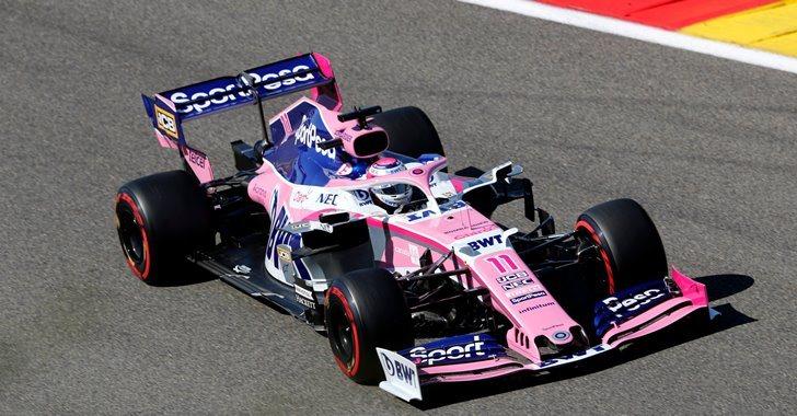 Sergio Pérez en el GP de Bélgica