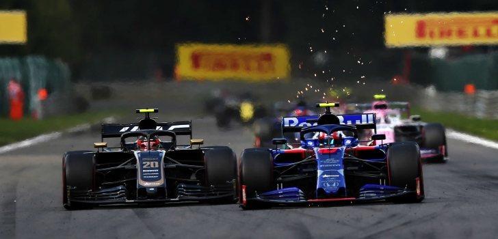 Gasly supera a Magnussen en Bélgica 2019