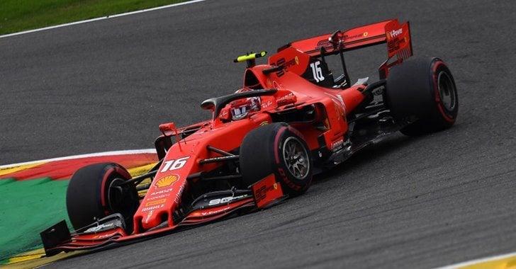 Charles Leclerc en el GP de Bélgica