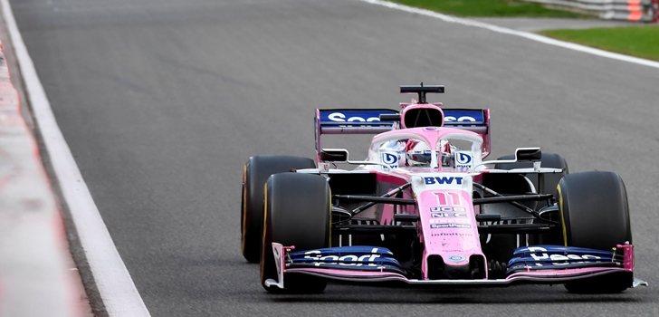 Pérez rueda en el GP de Bélgica 2019