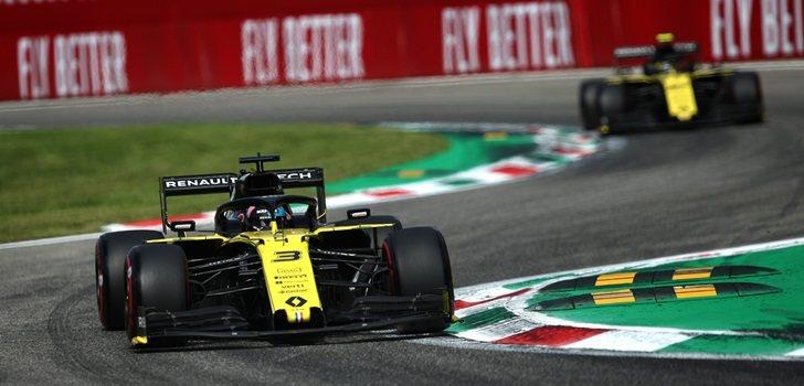 Ricciardo y Hülkenberg, en la Clasificación de Monza