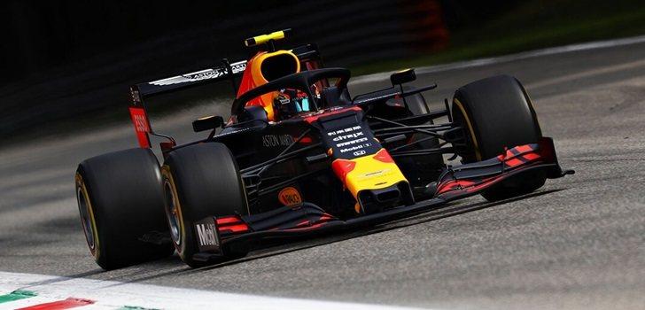 Alexander Albon, durante la Qualy del GP de Italia 2019