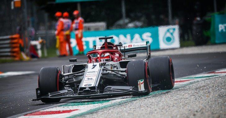 Kimi Raikkonen en el GP de Italia