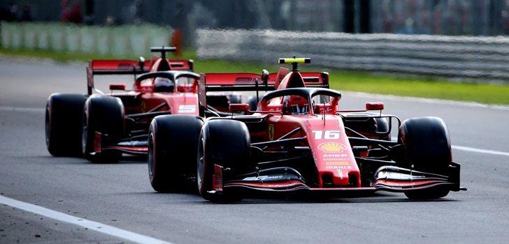 Leclerc y Vettel en la Qualy del GP de Italia 2019