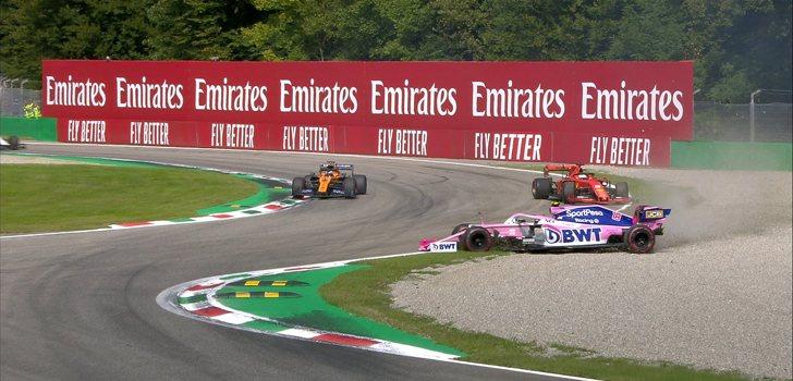 Incidente entre Vettel y Stroll en Italia