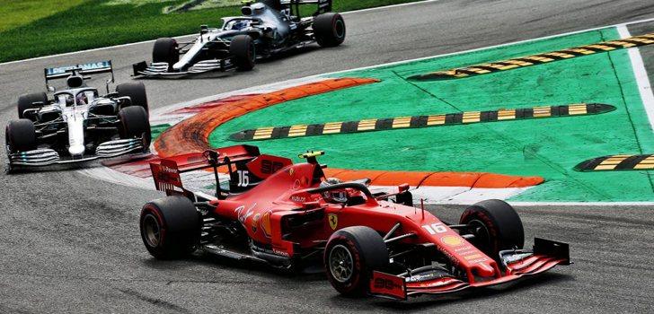 Pelea entre Leclerc, Hamilton y Bottas