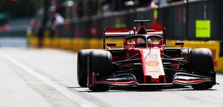 Sebastian Vettel rueda en Monza