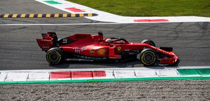 Sebastian Vettel, en la Qualy de Italia