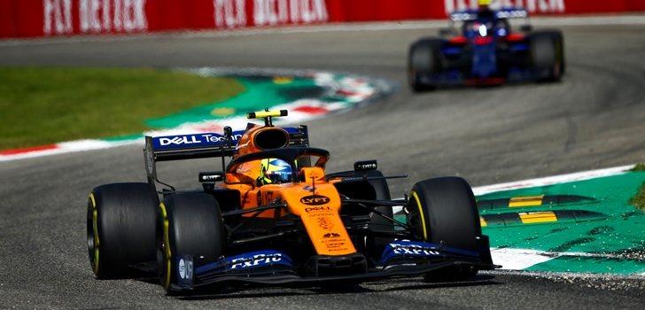 Norris, por delante de Gasly en Monza