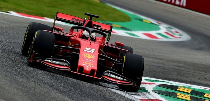 Sebastian Vettel, durante los Libres del GP de Italia