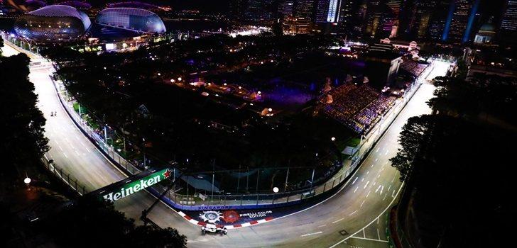 Hamilton, en el GP de Singapur 2018