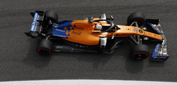 Los McLaren de Sainz y Norris en Monza