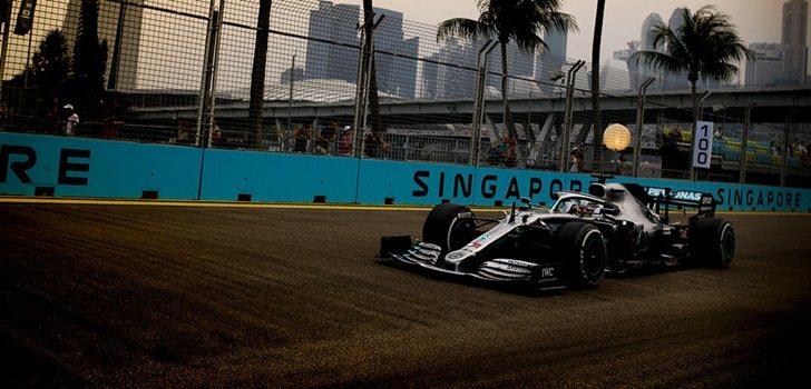 Hamilton, en los Libres 2 del GP de Singapur 2019
