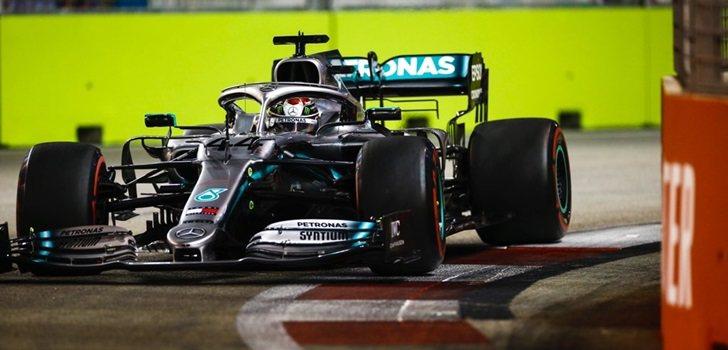 Lewis Hamilton finaliza segundo en la qualy de Singapur