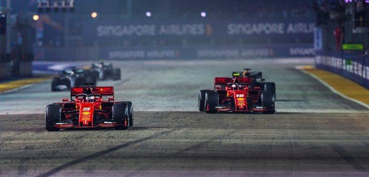 Los Ferrari logran el doblete en Singapur
