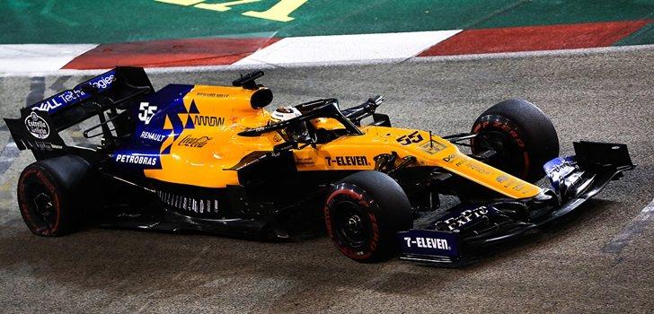 Carlos Sainz, durante el GP de Singapur 2019