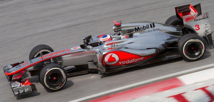 Jenson Button, en el McLaren Mercedes