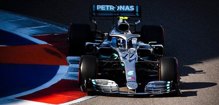 Valtteri Bottas, durante la Clasificación del GP de Rusia 2019