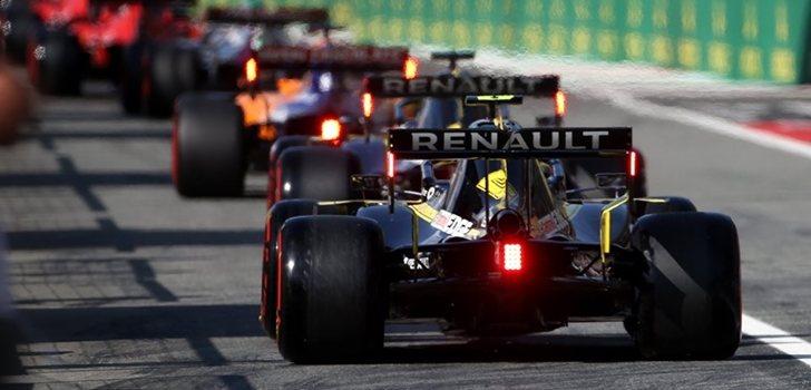 Los Renault, tras el MCL34 en Monza