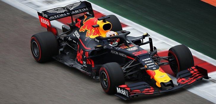 Max Verstappen, durante el GP de Rusia 2019