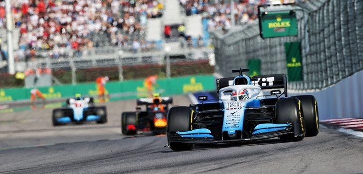 George Russell, en el Gran Premio de Rusia 2019