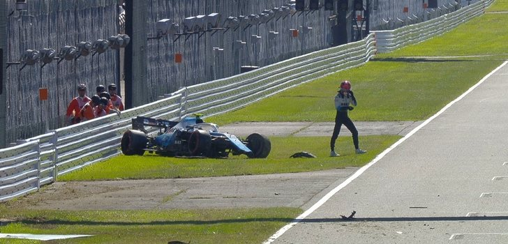 Kubica sufre un accidente en la Q1 del GP de Japón 2019