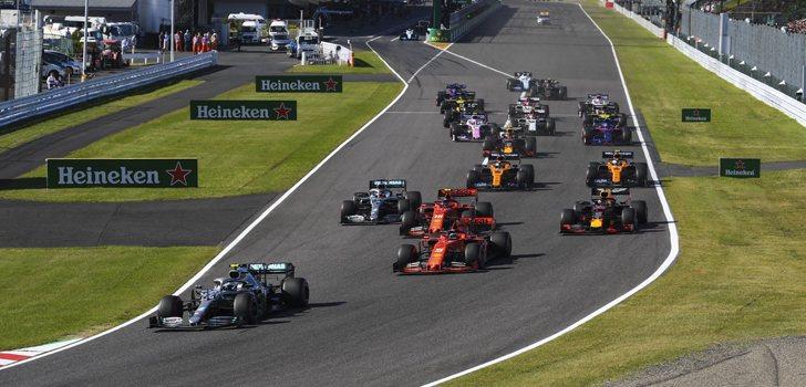 Salida de la carrera del GP de Japón 2019
