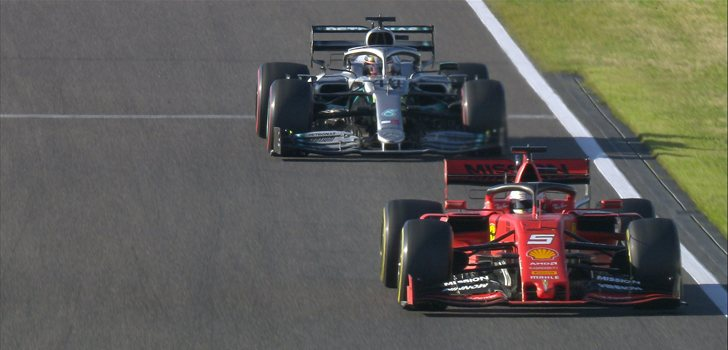 Batalla frenética entre Vettel y Hamilton