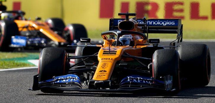 Sainz y Norris, en el GP de Japón 2019