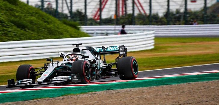 Lewis Hamilton, en la Qualy del GP de Japón 2019
