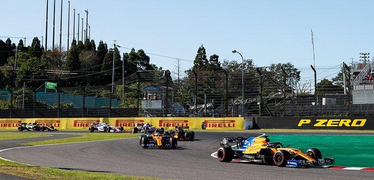 Carlos Sainz lidera la zona media en el GP de Japón