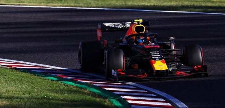 Albon, durante el GP de Japón 2019