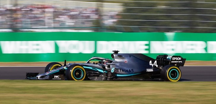 Hamilton, durante el GP de Japón 2019