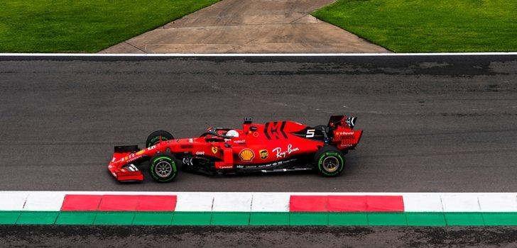 Sebastian Vettel, en los Libres 1 del GP de México