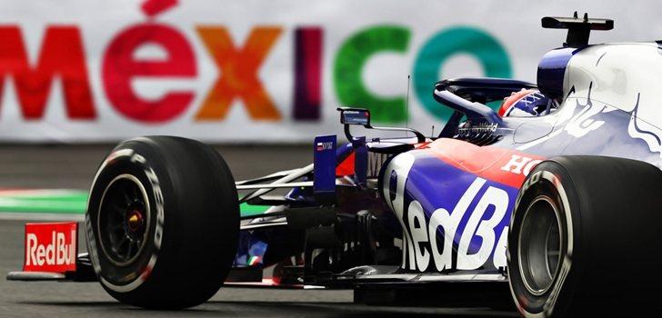 Kvyat, durante el GP de México