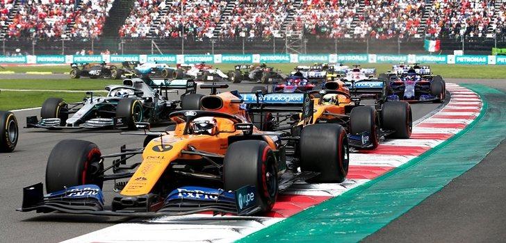 Carlos Sainz se colocó cuarto en la salida del GP de México