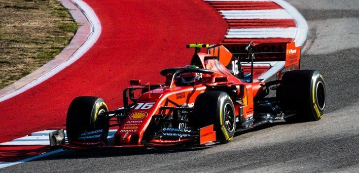 Charles Leclerc en el GP de los Estados Unidos